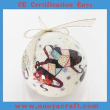 2015 Decorative Paper Ball with high glossyd delicate printed Christmas design