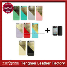 Handmade Pyramid Luxury Golden Studs Spikes Rivets Protective Case Cover for iPhone 4/4S,5