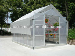 High cost performance hobby aluminium 6mm polycarbonate garden prefabricated house HX66 series