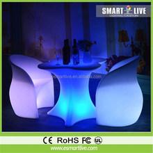 RGB rechargeable led bar chair/led sofa/led bar club furniture