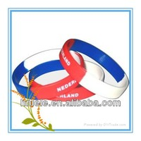 LELE Debossed Inkfilled Wristbands /engraved Silicone Wristbands /Inkfilled Bracelets