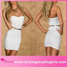 Hot selling Factory Price off shoulder Cocktail off white formal dress