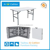 "48"" 4ft 120cm rectangular plastic folding in half table"
