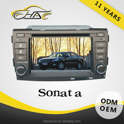 Double Din Car DVD For Hyundai Sonata In Dash Car GPS Navigation System Multimedia Radio
