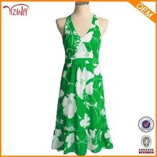 Últimas ocasional vestido diseños / hawaiano vestido para mujeres / impreso mujeres se visten