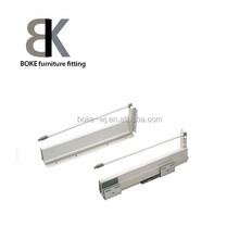 Tool box drawer slides, soft closing, bottom mounted