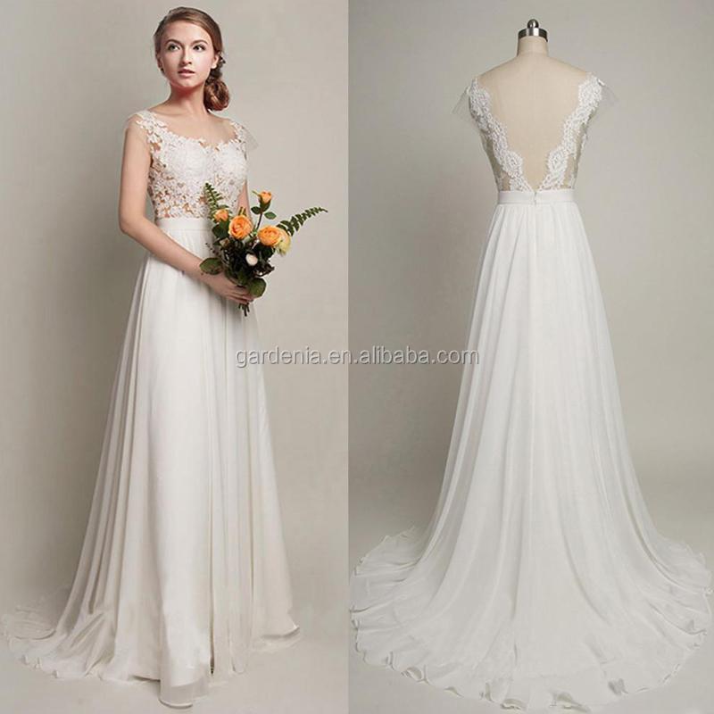 wholesale sheer wedding dresses