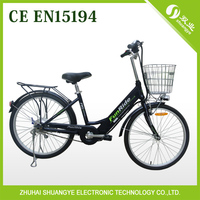 lithium hidden battery bicycle with basket powerful electric dirt bike for adults