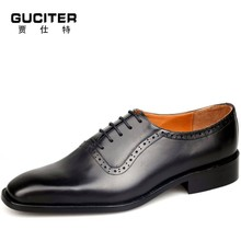 Men's leather shoes British style brockden leather business formal leather shoes tidal current male genuine calf skin