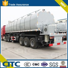 liquid asphalt/bitument tank truck/semi trailer with heat preservation system for sale (color and logo optional)