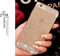 Glitter powder rhinestone bling luxury diamond clear crystal hard back cover Sparkle phone case for iPhone 6
