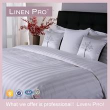 Linen Pro Full Size 3 CM Strip Pure Cotton Bedding Set Hotel Linen