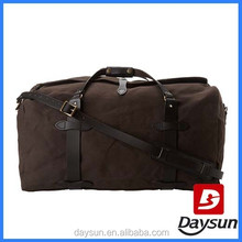 Brown high quality popular fancy cotton travel bag duffle bags for world traveller bags