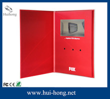 """Promotional advertising player 7"""" tft lcd video recordable greeting card"""
