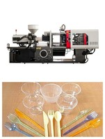 mini plastic knife fork and spoon injection moulding machine of 70ton with servo motor