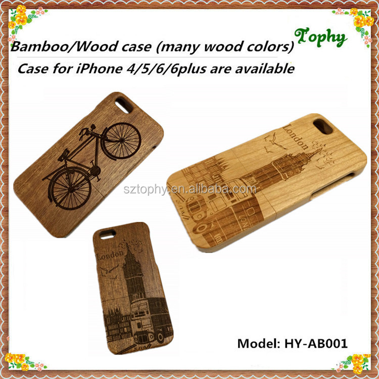 Bamboo Wood Patten Fashion Cell Phone Cases For Iphone 6s ...