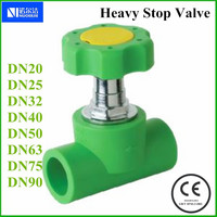 DN20 PPR Heavy Stop Valve For Water Piping Systems