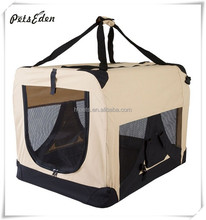 Portable crate for traveling cats or dogs