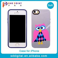 Customized blue tpu owl pattern phone case for iphone 5