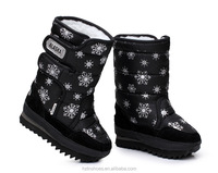 Russia styles Snow Boots/waterproof material Children's Snow Boots 2015 Winter Outdoor warm girls fashion print kids snow boots