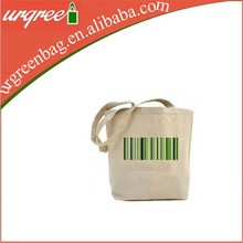 Green eco frinendly blank wholesale Cotton canvas tote bag