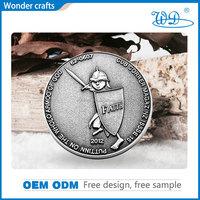 3D Excellent workmanship commemorative die cast antique silver souvenir zinc alloy custom marine corps challenge coins