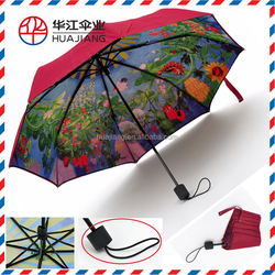 compact folding umbrella with full printing umbrella for woman's summer day umbrella