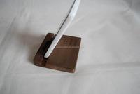 beech wood simple mobile phone holder 9x8.8x1.5cm