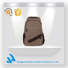 New casual fashion unisex big volune canvas laptop backpack school bag