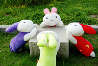 Most selling long ears pink plush bunny rabbit toys