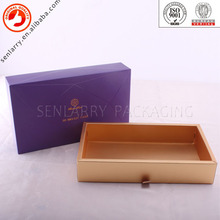 New style rigid cardboard box for underwear packaging with handmade paper drawer gift boxes