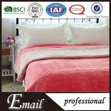 Soft 100%microfiber velvet fabric bedding set china supplier