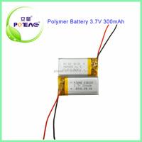 Low MOQ 300mah 3.7v small lithium polymer battery pack 502035