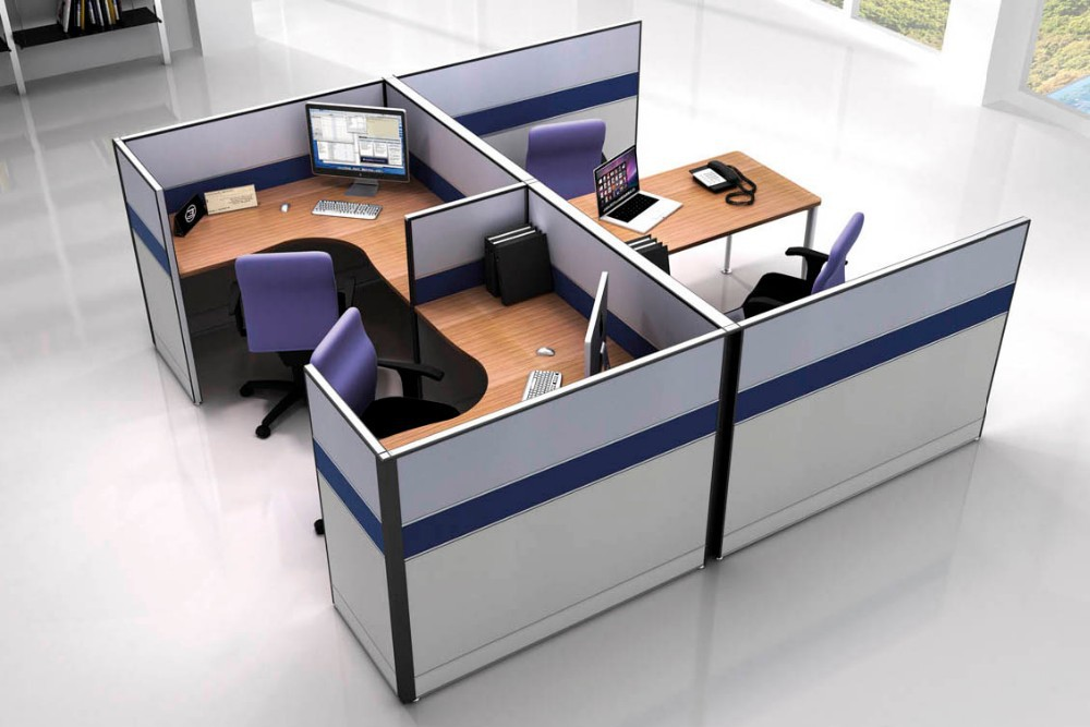 Single modern office furniture with partition desk buy