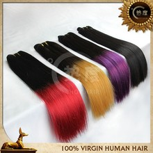 6A Grade 3pcs Malaysian Straight Virgin Black Purple Two Tone Ombre Hair Wave Virgin Extension