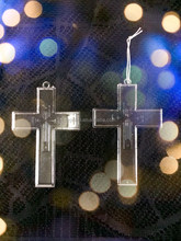 2015 ABS Pure Bright Crystal Religious Cross ,DIY Accessory Crystal Cross