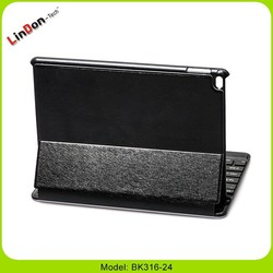 New design detachable bluetoothe keyboard with leather case for iPad Air 2 BK316-24