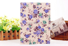 Bloom PU leather Rotary Tablet case for iPad(purple)