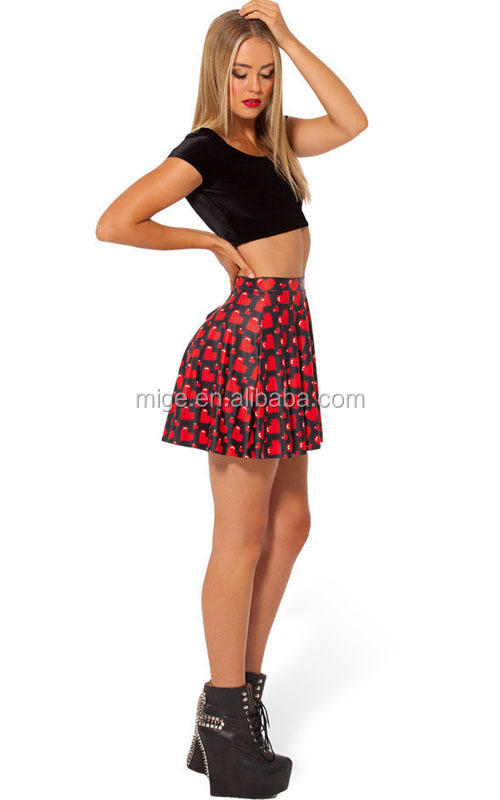 Hot girl short skirt