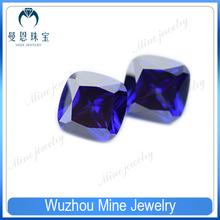 Top Quality Fertilizer square purple tanzanite cubic zirconia