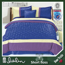 Dubai Popular blue striped bedding/bed sheet/super king size comforter