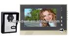 7 polegadas lcd colorido apartamento de vídeo porta telefone sistema de intercomunicação