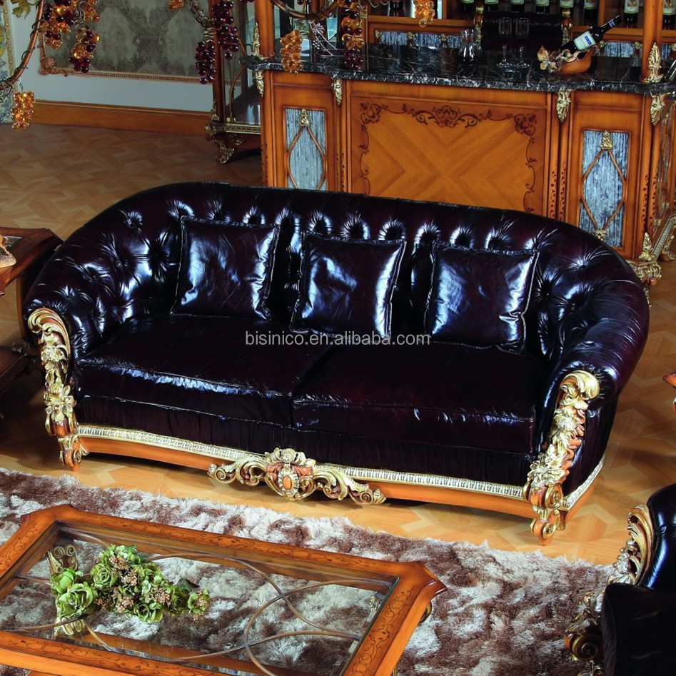 luxe fran ais style baroque divan salon meubles noir. Black Bedroom Furniture Sets. Home Design Ideas