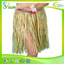 Wholesale short ruffia hula skirt hawaiian party