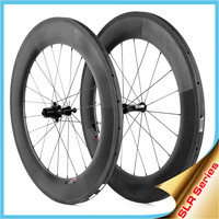 2015 YISHUNBIKE carbon wheel 88mm tubular super light weight straight pull ceramic bearing road bike wheelset SLR880T