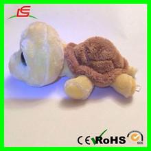 E431 Shiny Brown Grey Stuffed Sea Animal Plush Big Eyes Turtle Toy