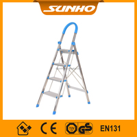 stainless steel indoor foldable easy store step ladder