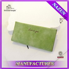 Low-cost fashion korean women wallet made in China low MOQ