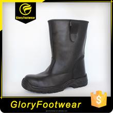 Nuovo design nero cavaliere/basi stivali di sicurezza per gli uomini
