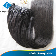 100% Human Italian Keratin Glue brazilian micro ring loop hair extensions